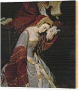 Anne Boleyn In The Tower Wood Print