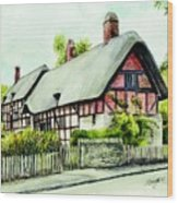 Anne Hathaway Cottage England Wood Print