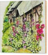 Anne Hathaway Cottage Wood Print