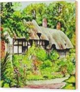 Anne Hathaways Cottage  Wood Print