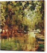 Annecy France Pont Des Amours Wood Print