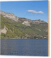 Annecy Lake Panorama Wood Print