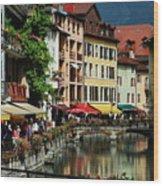 Annecy Medieval Town Wood Print