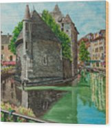 Annecy-the Venice Of France Wood Print