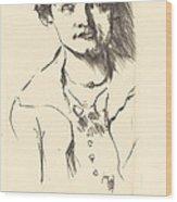 Anneliese Halbe (bildnis Einer Jungen Dame (anneliese Halbe)) Wood Print