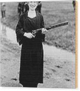 Annie Oakley, American Folk Hero Wood Print