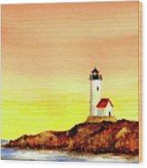 Annisquam Harbor Lighthouse - Summer Scene Wood Print