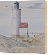 Annisquam Lighthouse 2 Wood Print