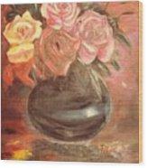 Anniversary Flowers Wood Print