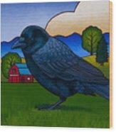 Anns Crow Wood Print