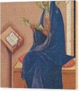 Annunciation Fragment 1311 Wood Print