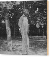 Anonymous African American Lynching Wood Print