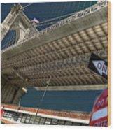 ...another Angle Of Brooklyn Bridge... Wood Print