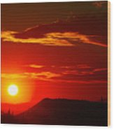 Another Beautiful Arizona Sunset Wood Print