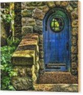 Another Blue Door Wood Print