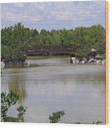 Another Bridge At The Zen Garden Wood Print
