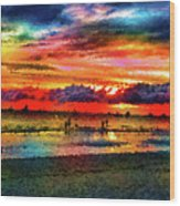 Another Day At The Beach Wood Print