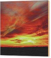 Another Illinois Sunset Wood Print