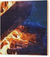 Another Log On The Fire Wood Print