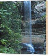 Another Munsing Waterfall Wood Print