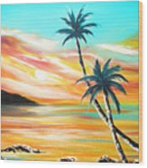 Another Sunset In Paradise Wood Print
