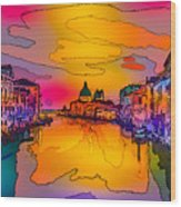 Another Surreal Venice Sunset Wood Print