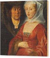 Ansegisus And Saint Bega Wood Print