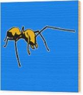 Ant Graphic  Wood Print
