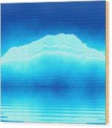 Antarctica Glacier Wood Print