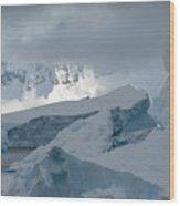 Antarctica Ice Wood Print