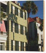 Antebellum Row Hosues Wood Print