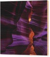 Antelope Canyon Glow Wood Print