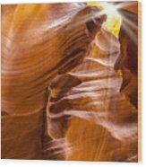Antelope Canyon Sunrays Wood Print