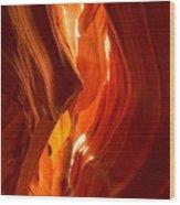 Antelope Canyon Wavy Abstract Wood Print