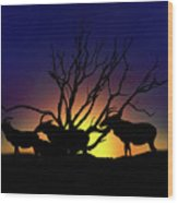 Antelope Crossing Wood Print