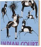 Antelope Hunt From A Navajo Drawing Wood Print