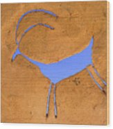 Antelope Petroglyph Wood Print