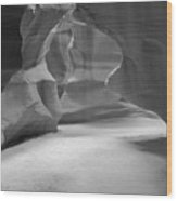 Antelope Slot Canyon Black And White Wood Print