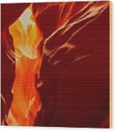 Antelope Textures And Flames Wood Print