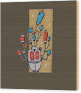 Antennabot Psi Gh76g-u Wood Print
