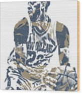Anthony Davis New Orleans Pelicans Pixel Art 21 Wood Print