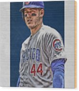 Anthony Rizzo Chicago Cubs 3 Wood Print