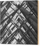 Anthony Skylights Grayscale Wood Print