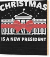Anti Donald Trump Christmas Edition Vote For Dems Dark Wood Print