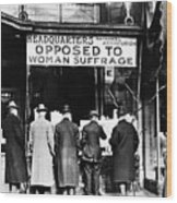 Anti-suffrage Association Wood Print
