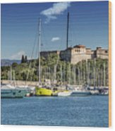 Antibes Fort Carre And Port Vauban  Wood Print
