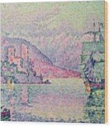 Antibes Wood Print by Paul Signac