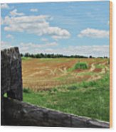 Antietam Farm Fence 2 Wood Print