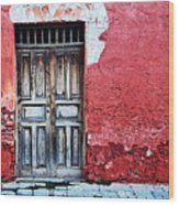 Antigua Door  Wood Print