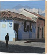 Antigua Guatemala Streetscene Wood Print